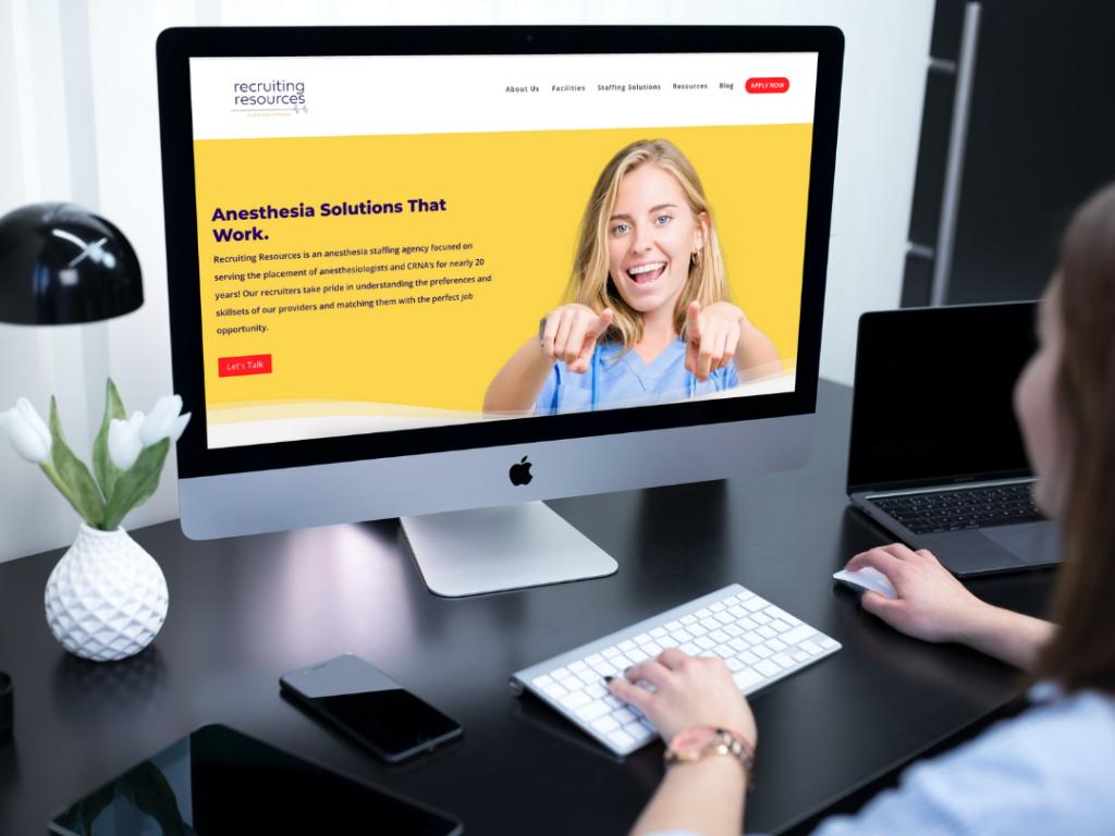 Recruiting Resources Website Screenshot